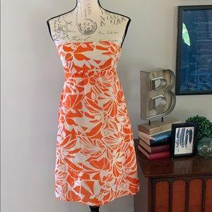 AE Orange Strapless Dress